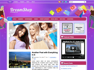 Женский WordPress шаблон DreamShop