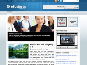 Бизнес тема для WordPress eBusiness