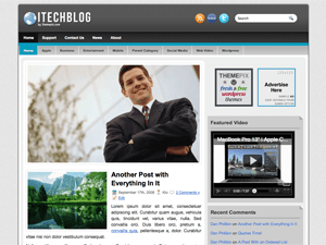 Wordpress шаблон бизнес iTechBlog