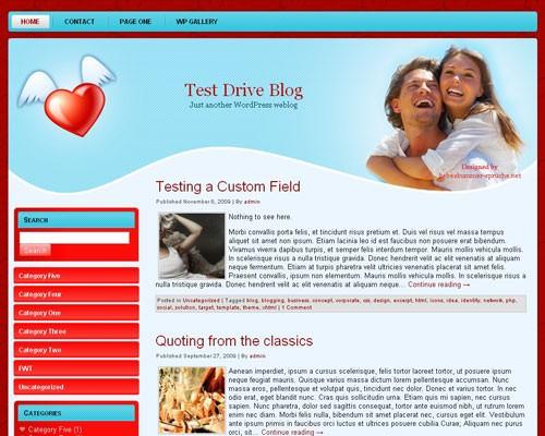 Тема Вордпресс романтика Love-wp-theme