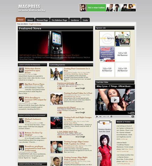 Шаблон для ВП Newslog