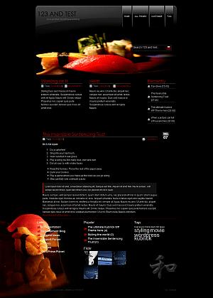 Шаблон Sushi WordPress для сайта о суши