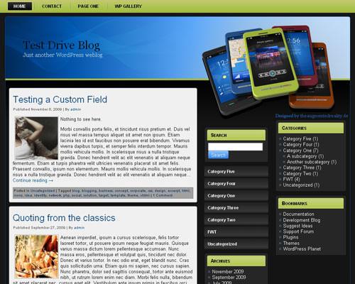 Wordpress шаблон техно Technology-wp-theme