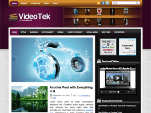 Музыкальный шаблон Вордпресс VideoTek