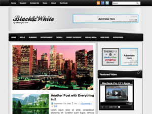 Универсальная тема WordPress BlackWhite