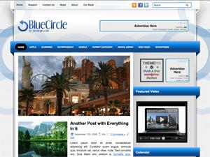 Светлая Вордпресс тема BlueCircle