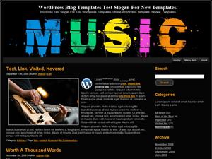 Музыкальный шаблон для WordPress Colorful-Music