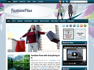 Вордпресс тема мода и стиль FashionPlus