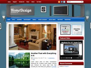 Шаблон WordPress интерьер HomeDesign