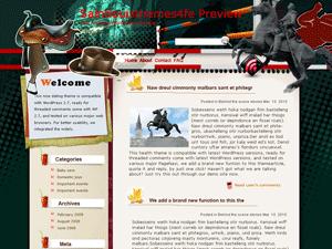 Шаблон WordPress конный спорт Horse-racing