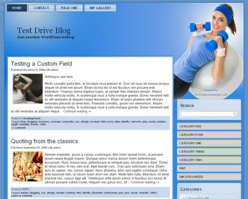 Шаблон WordPress фитнес Lady-fitness-wp-theme