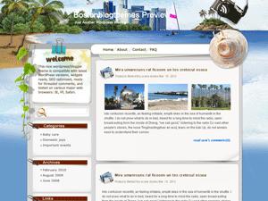 Шаблон Вордпресс туризм Seaside-holiday