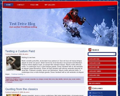 Wordpress тема спорт Skiing-wp-theme