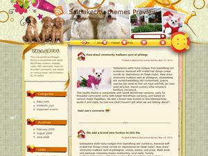 Вордпресс тема домашние животные Sweet-darling-house