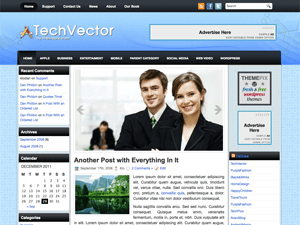 Бизнес тема Вордпресс TechVector