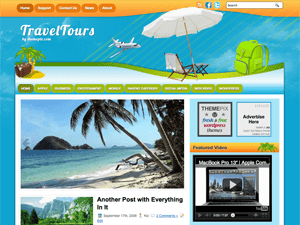 Wordpress тема путешествия TravelTours