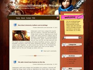 Вордпресс тема игры Virtual-gun-girl
