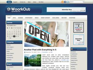Шаблон WordPress бизнес WoorkOut
