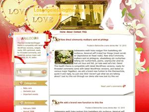 Wordpress тема романтика Forever-love