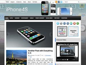 Современная тема Вордпресс iPhone4S