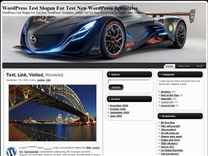 Автомобильная тема Вордпресс Mazda-Furai