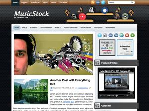 Музыкальная тема для Вордпресс MusicStock