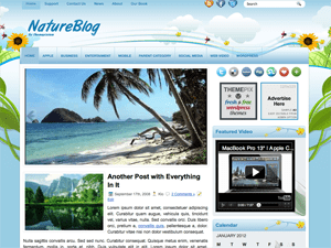 Вордпресс тема отдых и путешествия NatureBlog
