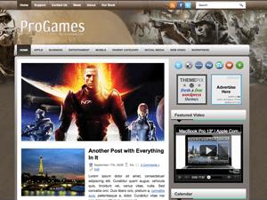 Вордпресс шаблон игры ProGames
