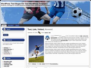 Футбольная тема WordPress Soccer-Time