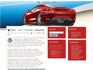Автомобильная тема WordPress Auto-back