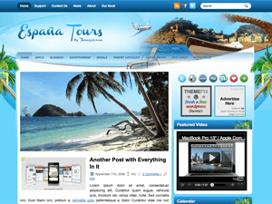 Wordpress шаблон туризм EspaniaTours