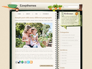 Wordpress тема виджеты Gardening-tricks