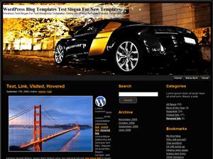 Автомобильная тема WordPress Golden-Black-Car
