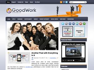 Wordpress бизнес тема GoodWork