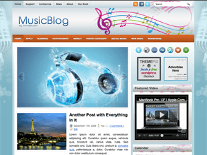 Музыкальный шаблон Вордпресс MusicBlog