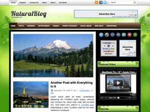 Вордпресс шаблон природа NaturalBlog