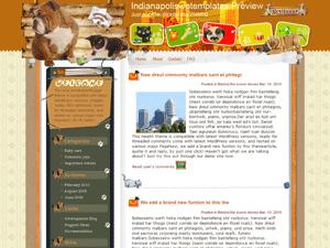 Шаблон WordPress животные Paradise-for-animals