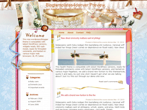 Шаблон Wordpress свадьба Pretty-bride