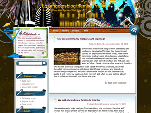 Wordpress шаблон отдых развлечения Sleepless-city