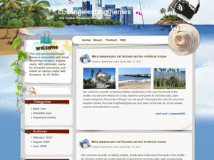 Wordpress тема туризм Sunny-seashore
