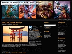 Wordpress шаблон онлайн-игры WoW-Lightning