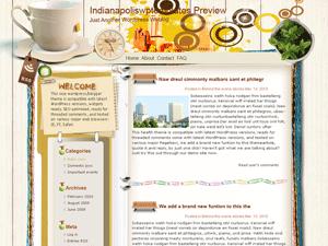 Wordpress тема персональный блог Coffee