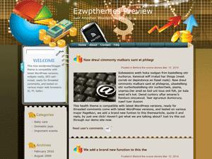 Wordpress шаблон финансы Coins