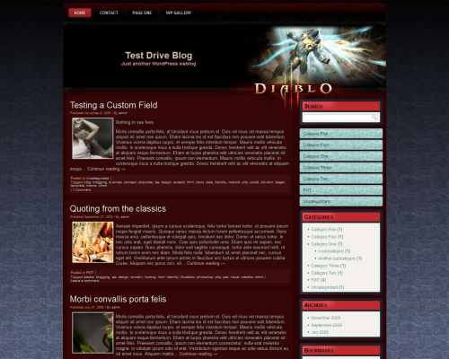 Wordpress шаблон игры Diablo3-wp-theme