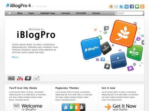 Премиум шаблон iBlogPro4 – в стиле Apple