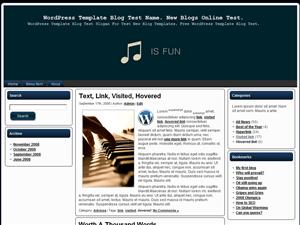 Музыкальная тема Вордпресс Music-Is-Fun
