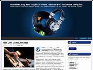 Музыкальная тема WordPress Old-And-New-Music