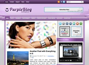 Шопинг тема PurpleBlog