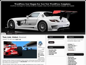Автомобильная тема для Вордпресс White-Speed