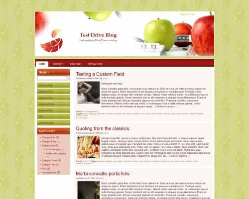Wordpress шаблон диеты Dieting-wp